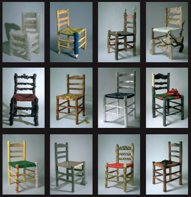 Collection des 12 chaises en sucre
