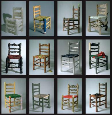 Collection des 12 chaises en sucre